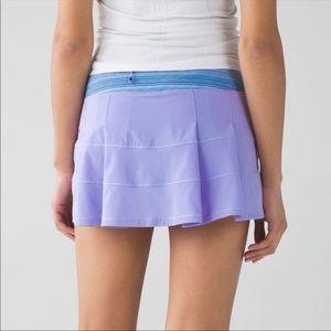 Lululemon Pace Rival Skirt II In Lilac Wave Twist